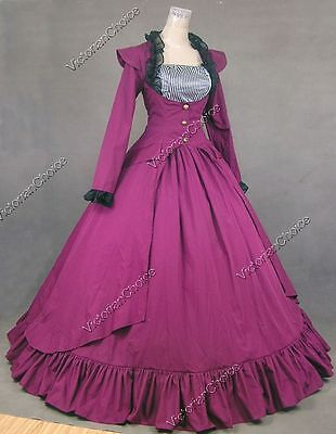Victorian Edwardian Period Dress 3-PC Suit Steampunk Cosplay Theater Costume 167