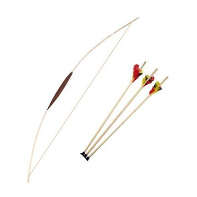 NEW Wooden Bow 47 & 3 Arrows - Archery Set For Children