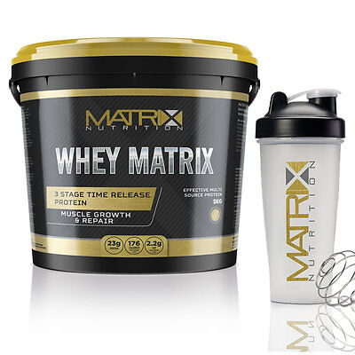 Optimum Whey Protein Powder - Muscle Growth - All Flavours - All Sizes By Matrix