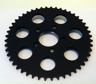 2000-2013 Black  Rear Chain Sprocket Harley 530 Conversion 48 Tooth  Flat