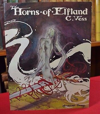 Signed First Edition Horns of Elfland Charles Vess Archival Press Cambridge, MA