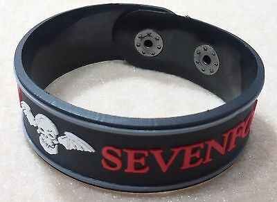 New Avenged Sevenfold Rubber Bracelet Wristband Unisex Red Souvenirs Day Wb54