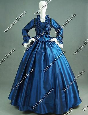 Civil War Victorian Satin Day Dress Ball Gown Theatre Reenactment Clothing 170