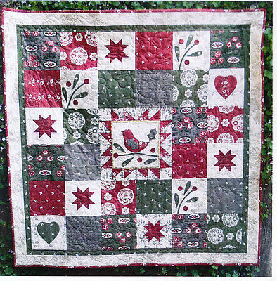 Song of Christmas - applique & pieced Christmas quilt PATTERN - Gail Pan