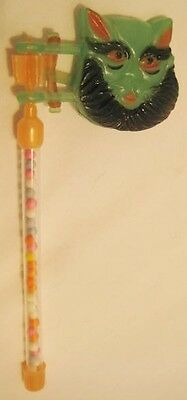 Old ODD Plastic Halloween Scary Cat Noisemaker / Candy Container - Hong Kong