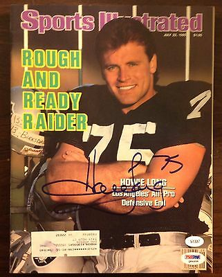 Howie Long autographed Sports Illustrated PSA Oakland Raiders