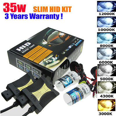 35W HID Xenon Bulbs Headlight Slim Ballast Conversion Kit H1 H3 H4 H7 9005 9006