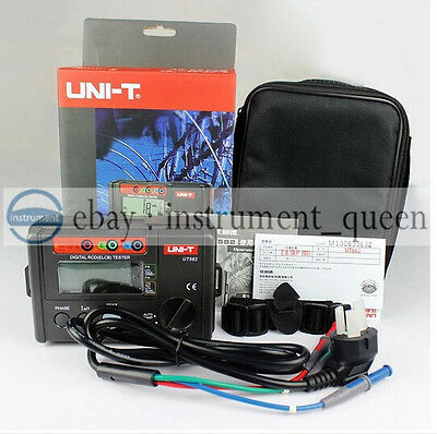 UNI-T UT582 Digital RCD ELCB Testers AUTO RAMP,3 LED lamp for connectivity check