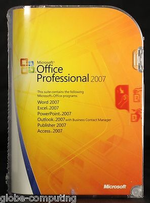 Microsoft Office Professional 2007 Edition Word Outlook Excel Publisher