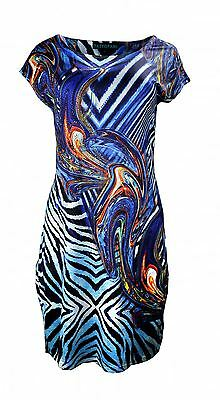 Tattopani Women's Sleeveless Dress With Colorful Print-Marble