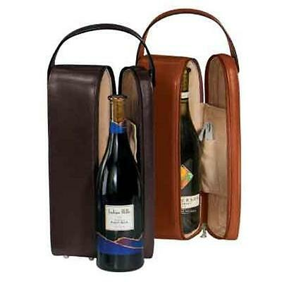 Royce Leather 621-BLACK-6 Single Wine Presentation Case Black