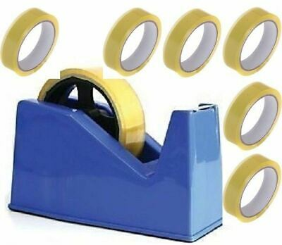 Desktop Heavy Duty Weight Sellotape Cellotape Tape Dispenser 6 Rolls Tape Office