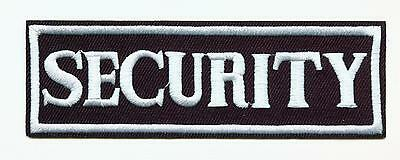 SECURITY Aufnäher Patch