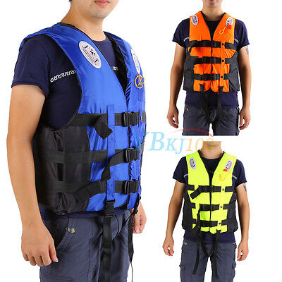 Watersports Drifting Sailing Boating Ski Adult Life Jacket Preservers Vest S-XXL