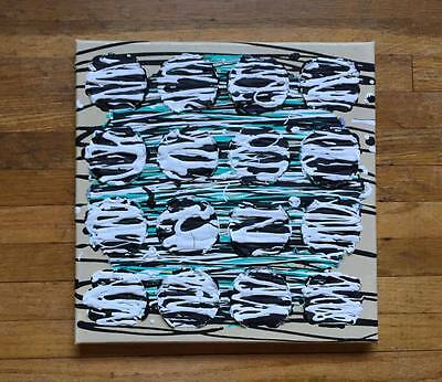 "Original Painting Melody Sargent - 12x12 ""Zebra Cakes on a Cake with sauce"""