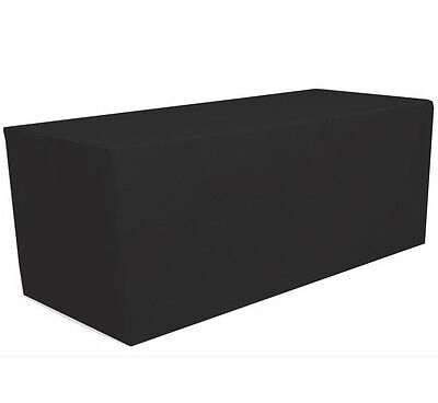 4' ft. x 2.5' ft. Fitted Polyester Tablecloth Table Cover Wedding Banquet Black