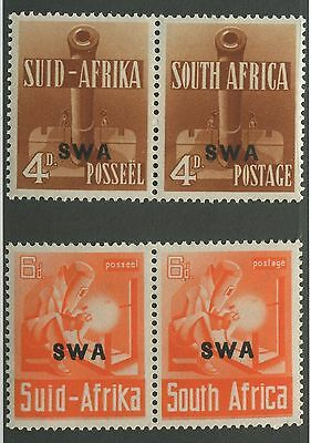 South West Africa #140 & #141 Mint Pairs Vf Nh