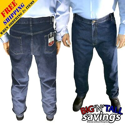 Big And Tall Men Plus Size Relaxed Fit Jeans Pants Trousers 48 50 52 54 56 58 60