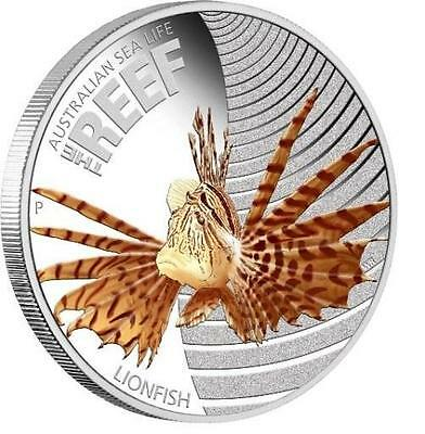 Australia 2009 50c Sea Life LIONFISH 1/2 Oz Proof Silver Coin SOLD OUT OF MINT