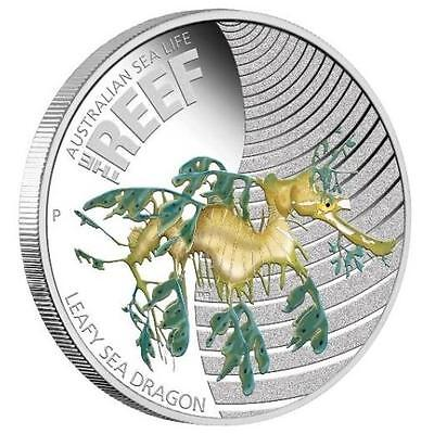 Australian 2009 50c Sea Life Leafy Sea Dragon 1/2 Oz Proof Silver Coin *LIMITED*