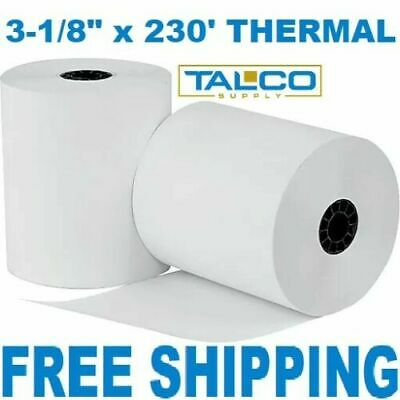 """EPSON TM-T88V (3-1/8"""" x 230') THERMAL PAPER - 24 NEW ROLLS *FREE SHIPPING*"""