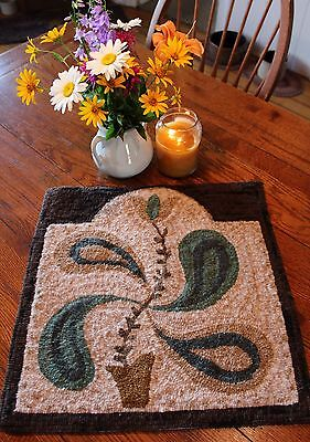Primitive Hooked Rug Pattern On Monks ~ Antique Adaptations ~ Tulip Swirl