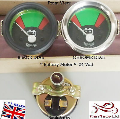 52MM Vintage CAR UNIVERSAL 24V BATTERY Ammeter CLOCK BEZEL DIAL GAUGE-M617B