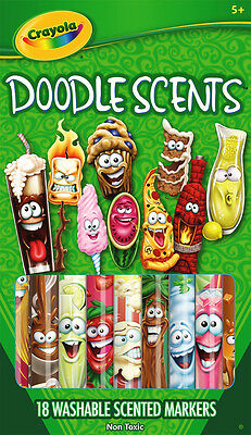 18PC Crayola Doodle Scents Washable Scented Coloured Markers - Made in Malaysia