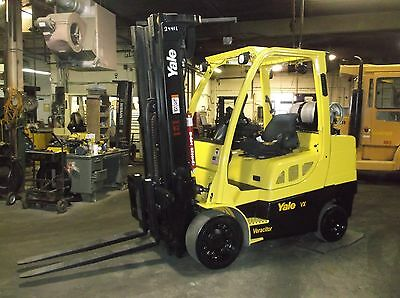 2009 Yale 8000 Lb Forklift Triple Mast, Side Shift, Cushion Tire 94/207