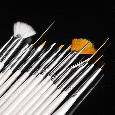 15pcs Nail Art Gel Design Pen PaInting Polish Brush Dotting Drawing Tool Set FK
