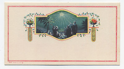 Religious Christmas blotter - Wise Men and Star - Unused