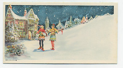 Christmas blotter - girls carrying gifts - unused