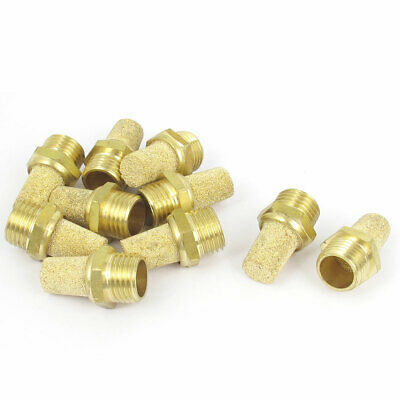 1/4BSP Male Thread Sintered Brass Pneumatic Exhaust Silencer Muffler 10pcs