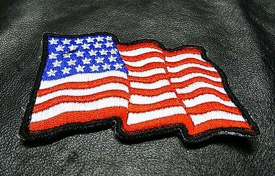 Waving Usa Flag Tactical Combat Morale 3 Inch Us Flag  Hook Patch