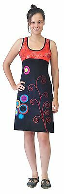 Women's Sleeveless Spiral Embroidery And Patch Dress