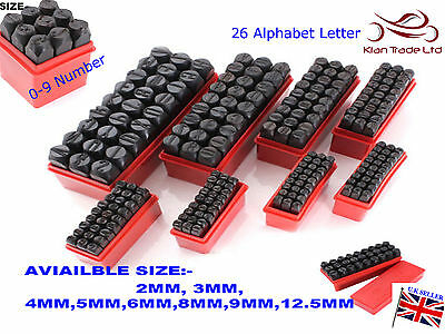 36 Piece Number & Letter Jewelry Punch Metal Wood work Leather Stamps