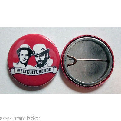 Weltkulturerbe - Button 25mm - Bud Spencer Terence Hill Kult