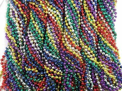 72 Multi Colors Mardi Gras Beads Necklaces Party Favors 6 Dozen Lot Global Disco
