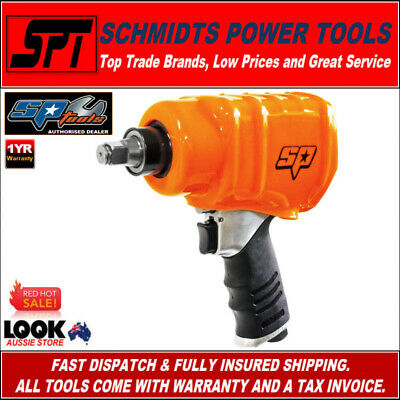 "SP TOOLS SP-1140EX AIR IMPACT WRENCH 1/2"" DRIVE PNEUMATIC RATTLE GUN 600ft/lbs"