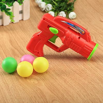 Funny Safety Plastic Toy Gun  with 4 Ping Pong Bullet Balls Kids Funny Game Gift