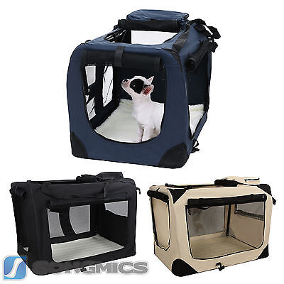 S-XXXL Portable Fabric Dog Pet Carrier Folding Kennel Crate 6 size