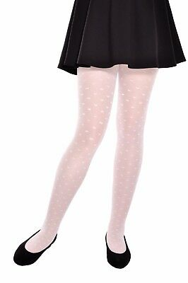 *Sweety* Patterned Kids Tights 20 Den White 3-8 Years Old by Knittex