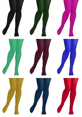 Kids Plain Tights 60 Den 7-Colours Hosiery 5 to 10 Years Girls Hosiery by Adrian
