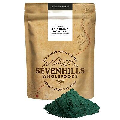 Sevenhills Wholefoods Organic Spirulina Powder | Detox Weight Loss Cleanse