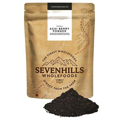 Sevenhills Wholefoods Organic Raw Acai Berry Powder | Detox, Weight Loss