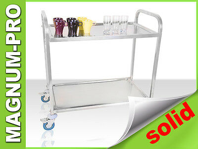 Professional 2 Tier Serving Trolley Gastronomy Catering Huge Capacity