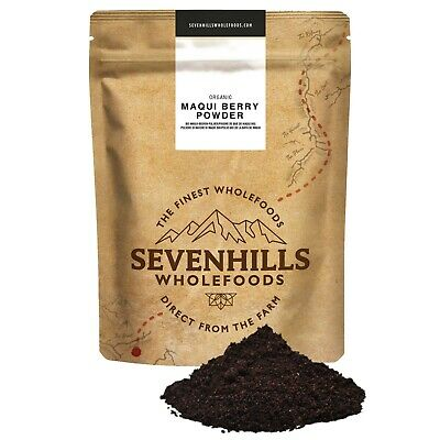 Sevenhills Wholefoods Organic Raw Maqui Berry Powder | Detox, Diet