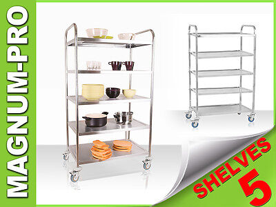 Professional 5 Tier Serving Trolley Gastronomy Catering Huge Capacity