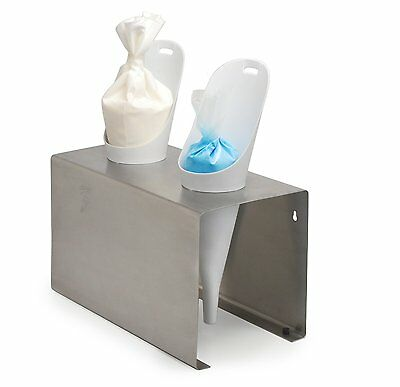 Ateco 4914, Decorating Bag Stand with 2 Cones