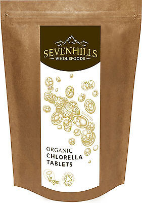 Sevenhills Wholefoods Organic Broken Cell Wall Chlorella Tablets | Detox